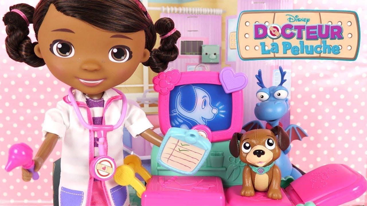 docteur la peluche jouet clinique findo le patient et accessoires youtube. Black Bedroom Furniture Sets. Home Design Ideas