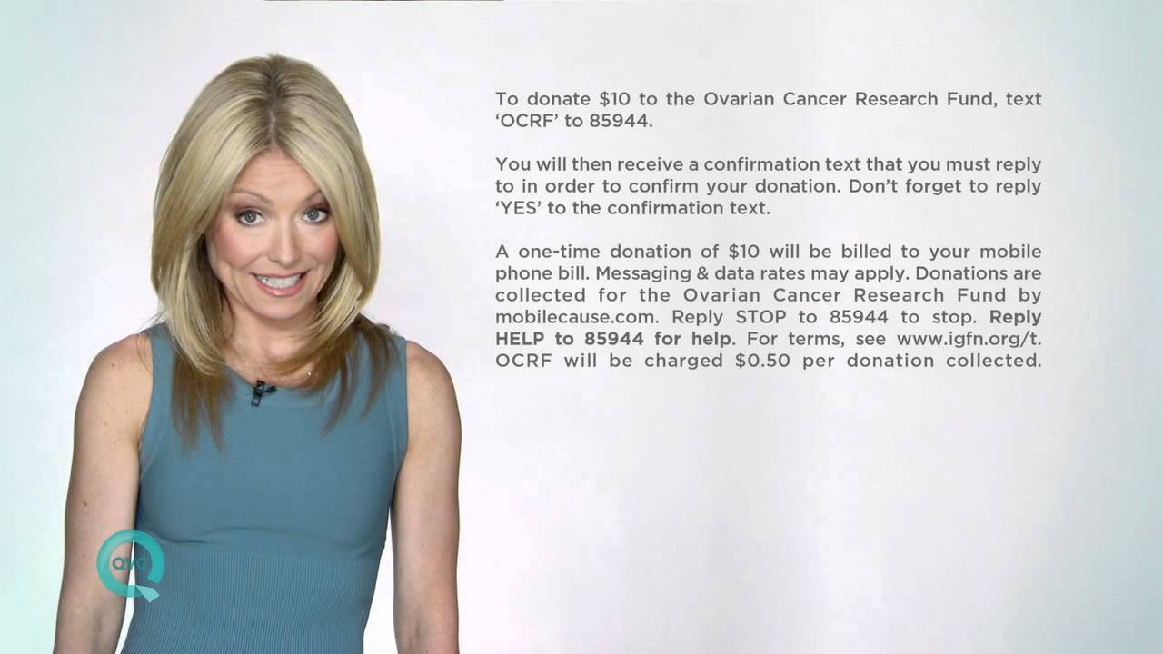 Kelly Ripa Ovarian Cancer Research Fund Youtube