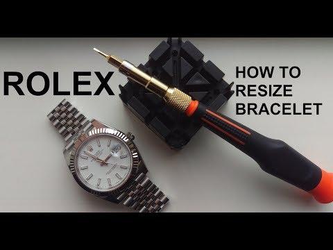 Rolex Watch Bracelet Resizing (Screws)