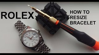 Rolex Watch Bracelet Resizing (Screws)