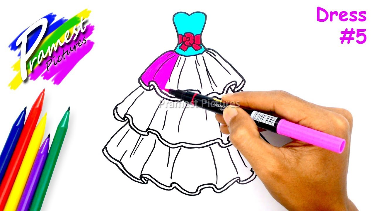 How to Draw Dress Coloring Pages #10