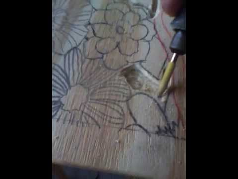 Wood Carving With Dremel - YouTube
