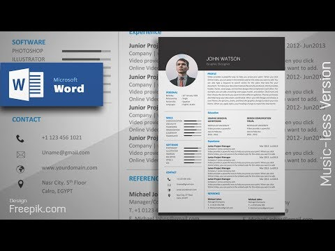 Creating a Formal Black Resume in Microsoft Word | CV Design Tutorial