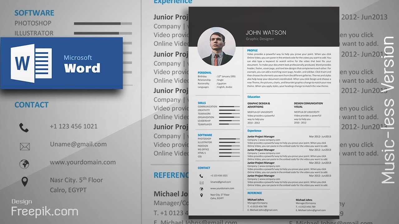 creating a formal black resume in microsoft word