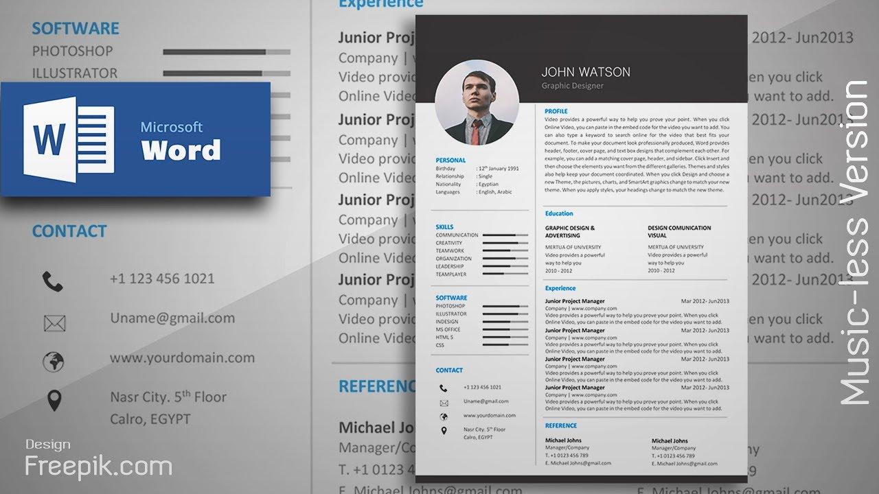 formal resume design