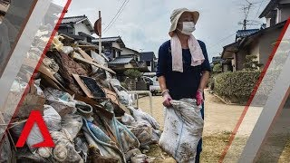 Japan floods: How the elderly pick up the pieces