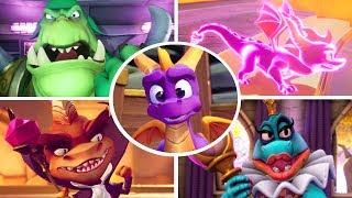 Spyro Reignited Trilogy - All Final Bosses & Endings