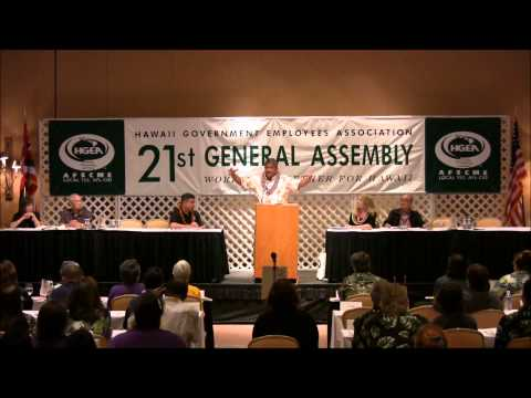 2012 General Assembly, Billy Kenoi - County of Hawaii Mayor