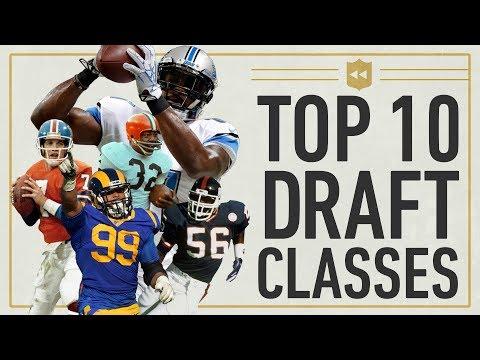 Top 10 Draft Classes in NFL History! | NFL Vault Stories