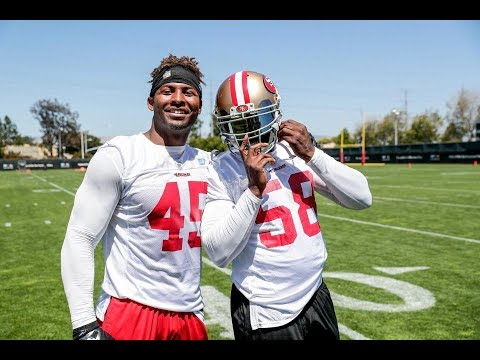 What does Elvis Dumervil do for the #49ers?