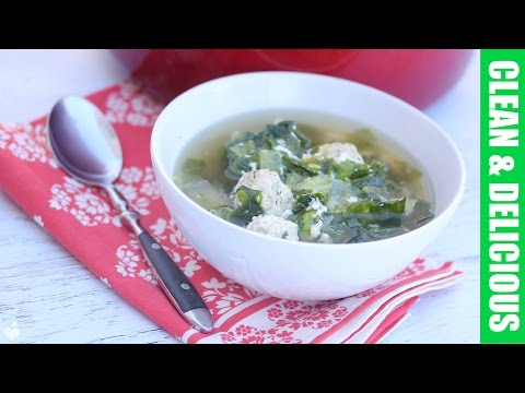 Italian Wedding Soup with Escarole | Clean Eating Recipe