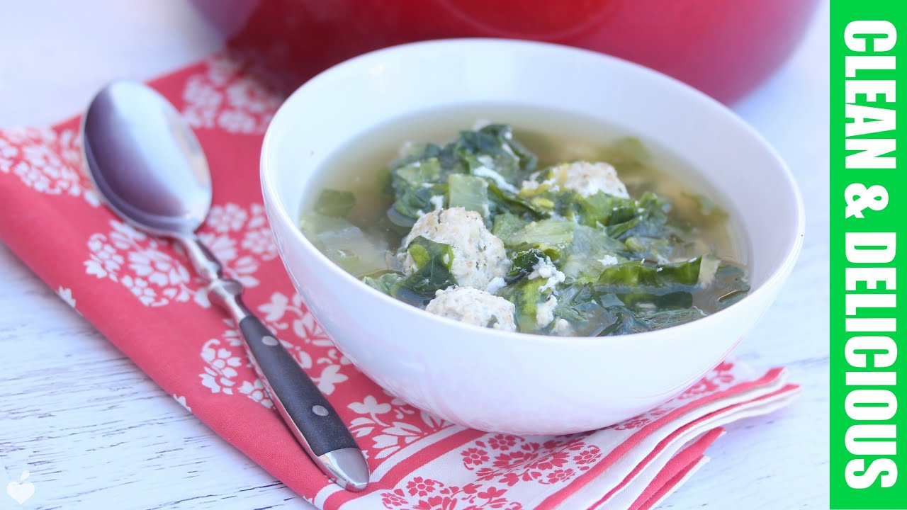 Italian Wedding Soup With Escarole Clean Eating Recipe