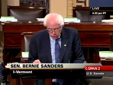 Bernie Sanders: The Cost of Deregulated Markets (9/17/2008)