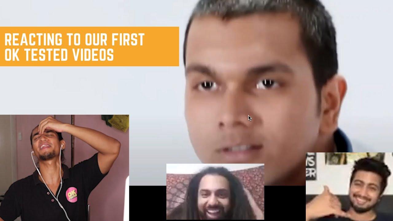 Reacting To Our First OK Tested Videos @Kanishk Priyadarshi  @Rohit Biswas