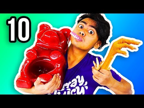 REAL FOOD VS GUMMY FOOD 10!