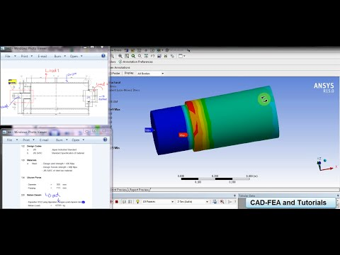 Tutorial Ansys - Shaft Drum Ship Unloader Strengh