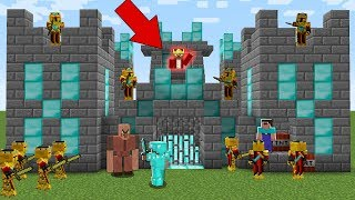 NOOB ATTACKED THE EVIL KNIGHT'S CASTLE IN MINCRAFT BATTLE