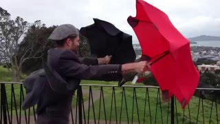 Испытание бурей. Blant - самый надежный зонт.(, 2016-02-17T19:51:25.000Z)