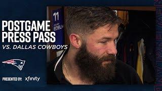 Stephon Gilmore, Julian Edelman & N'Keal Harry react to 13-9 victory over Cowboys