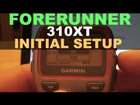 Garmin Forerunner 310 XT - Initial Setup & Garmin Connect Mac & User Profile