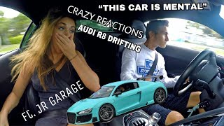 DRIFTING AND SPEEDING IN MY CRAZY AUDI R8 BUILD! Ft. JR GARAGE & MARIE TRENT