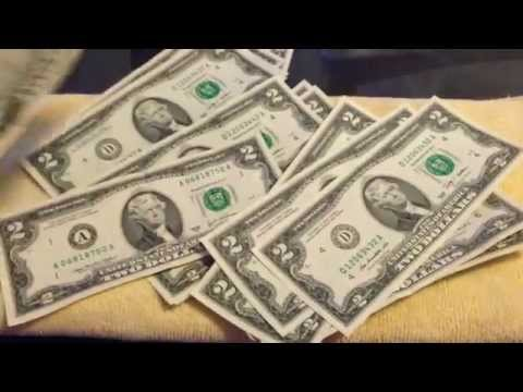 Stacks of Cash--2 dollar bills(numismatic)