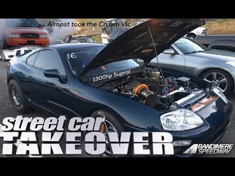Turbo Crown Vic Scared to do a burnout! Street Car Takeover Denver 2017