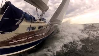 HR 29 sailing in the Baltic Sea -- filmed with GoPro