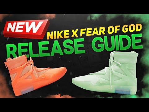 Nike x Fear of God 1 Release Guide!!