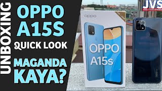 Oppo A15s Unboxing and First Impressions - Filipino | Helio P35 |Triple Camera |
