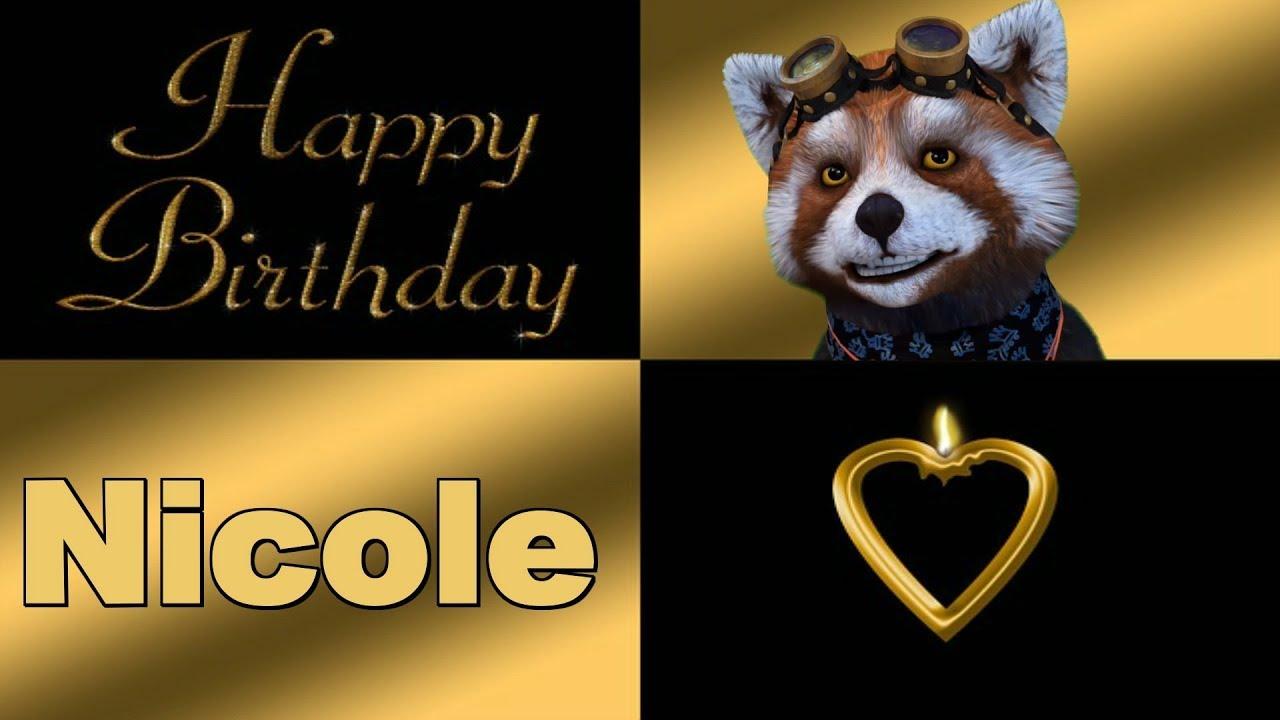 Nicole Alles Liebe Und Gute Zum Geburtstag Happy Birthday To You