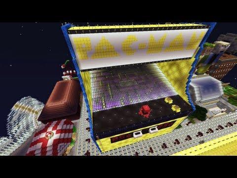 Minecraft Xbox - Notch Land - Pac-Man Arcade Cabinet - Part 4