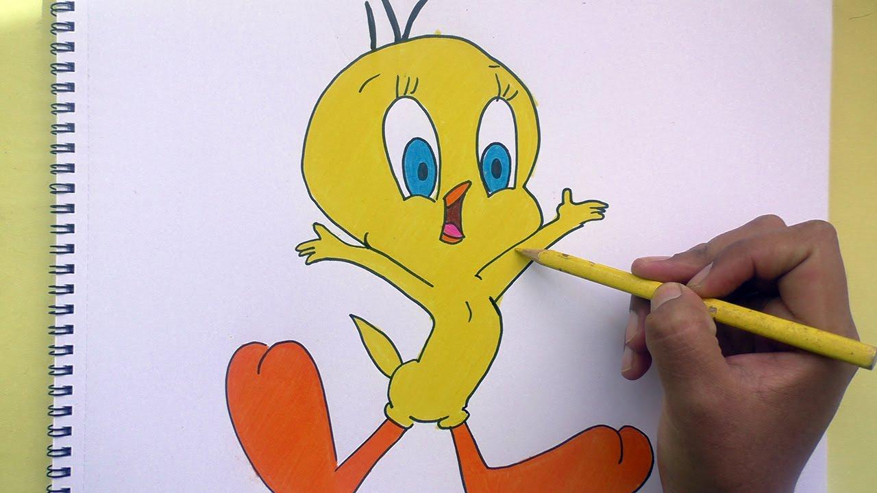 Dibujos Para Colorear De Piolin: Dibujando Y Pintando A Piolin (Looney Tunes)- Drawing And