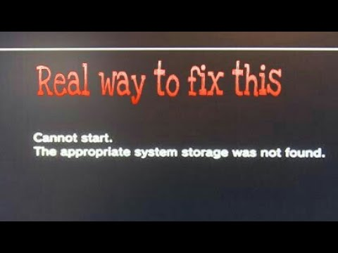 Ps3 Cannot Start The Appropriate System Storage Was Not Found FIX[ Read Pinned Comment]