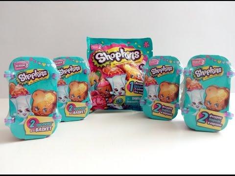 Шопкинс 3 сезон Shopkins season3 Unboxing корзиночки и фольгированный пакетик, распаковка