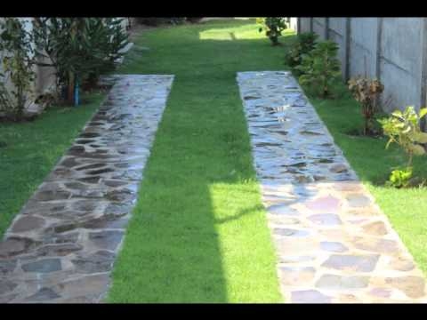 Entrada auto youtube for Bloques decorativos para jardin