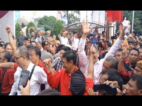 Begini Meriahnya Saat Djarot-Sihar Mendaftar Di KPU Sumut #Hut45PDIPerjuangan