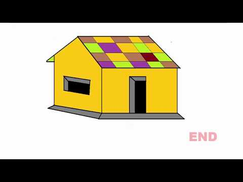 How to draw a House for Kids Learning.House Drawing system step by step.Rasel khan