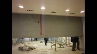 видео Противопожарные шторы Алютех (Alutech). Продажа и установка в Санкт-Петербурге.