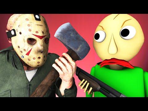 Балди Vs Джейсон 3: Прятки во Тьме (Пятница 13 | Baldi's Basics хоррор игра 3D анимация)