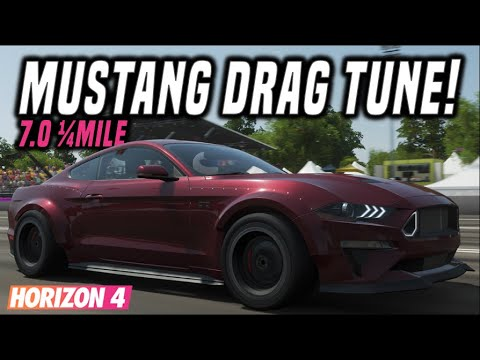 Forza Horizon 4 | 1900HP Ford Mustang RTR S5 Drag Tune | 7.040 Second 1/4Mile! thumbnail