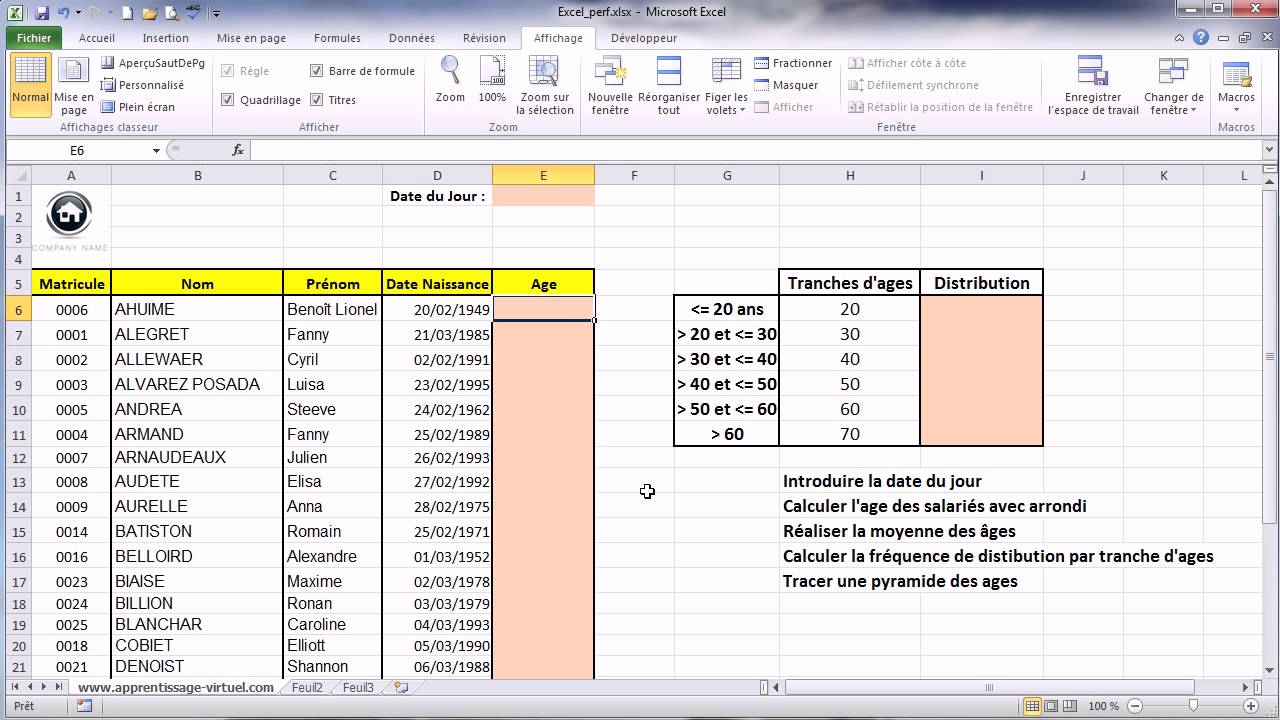 Exercice Excel Calculs Statistiques Youtube
