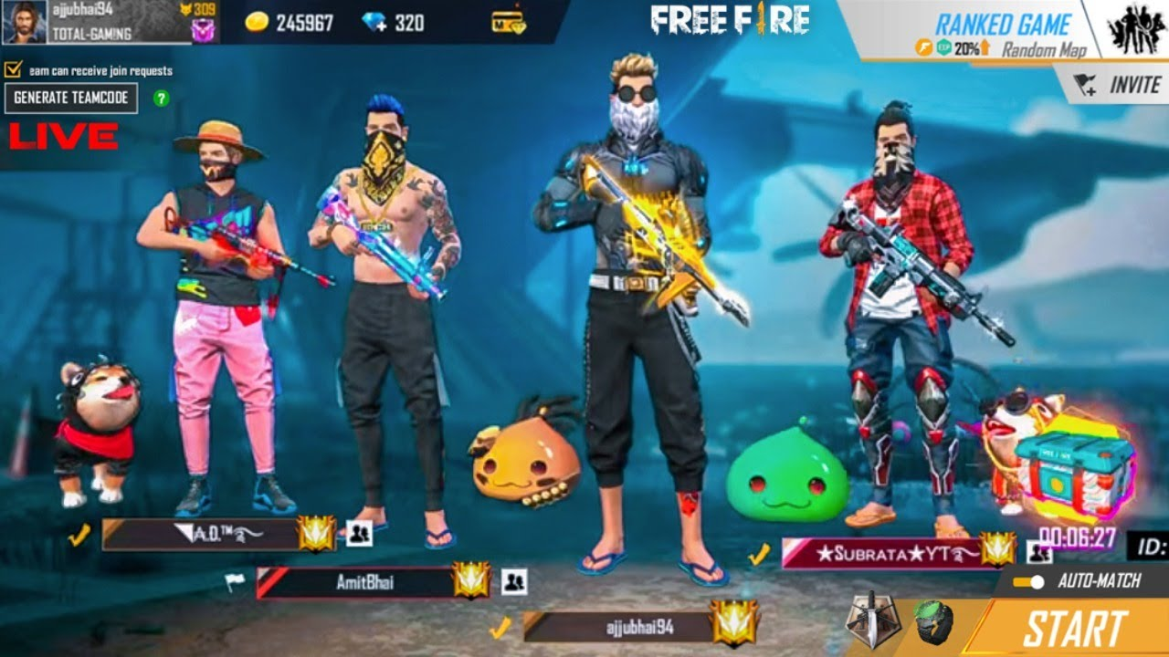 Download Ajjubhai Free Fire Live - Garena Free Fire