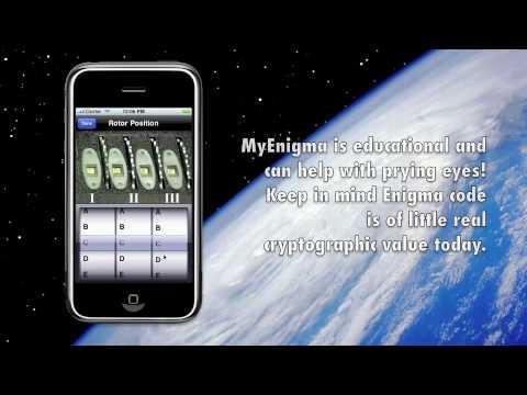 """iPhone Enigma Machine Simulator """"My Enigma"""""""