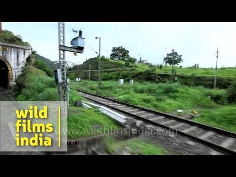 Train enters tunnel after crossing Krishna River - Kerala