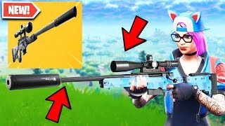New SUPPRESSED SNIPER RIFLE in Fortnite.. (Silent Sniper Rifle)