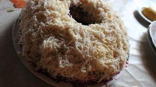 Салат Лесной ветчина, грибы, яйца  Рецепт салата