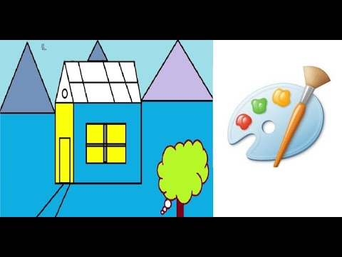 How to Draw a Simple House in MS Paint | Easy Scenery For ...