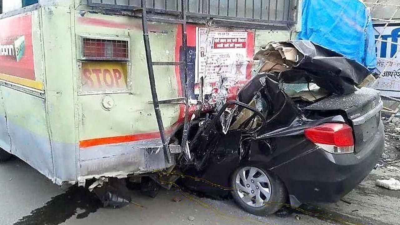 Latest Car Accident of Honda Amaze in India - Road - Crash ...