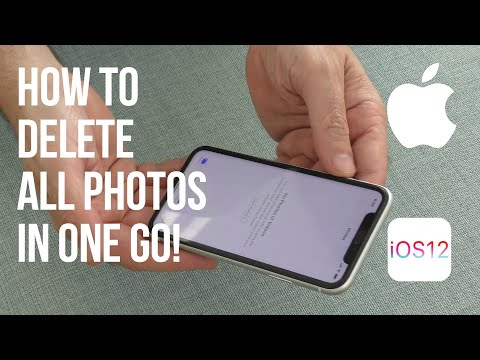 How to delete all the photos from an iphone